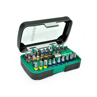 Hitachi Screwdriver Bit Set (32 Piece) in Plastic Storage Box