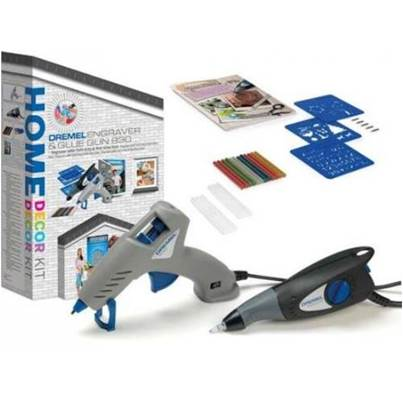 Dremel G290 Home Decor Kit, Engravor & Hot Glue Gun set with accessories