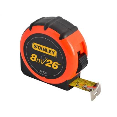 Stanley Hi Vis Tape 8m (26ft)