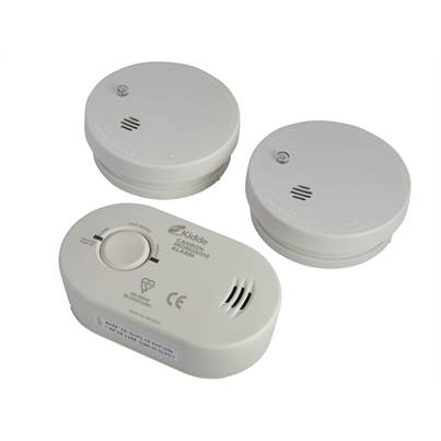 Kidde Twin Smoke Alarm & Carbon Monoxide Alarm Pack