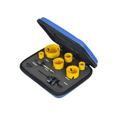 Faithfull Tools Professional Holesaw Set 9 Piece FAIHSK9BAG
