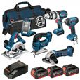 Image for BAG+6RS 18v 6 Pce li-ion Cordless Kit 6-Tool Package ( 3 x 4Ah Batteries )
