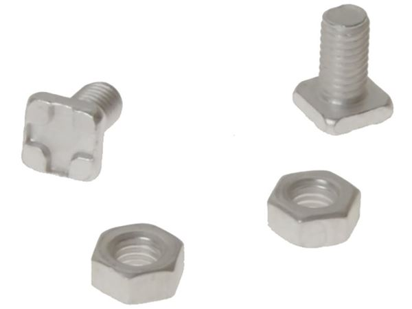 ALM Manufacturing GH004 Square Glaze Bolts & Nuts Pack of 20