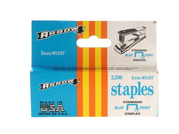 Arrow S107 Staples Box 2500