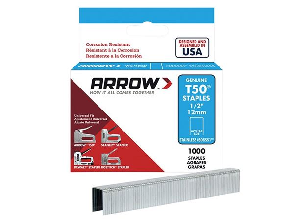 Arrow T50 Stainless Steel Staples