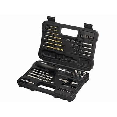 Black & Decker A7193 Accessory Set with Ratchet Screwdriver 47 Piece