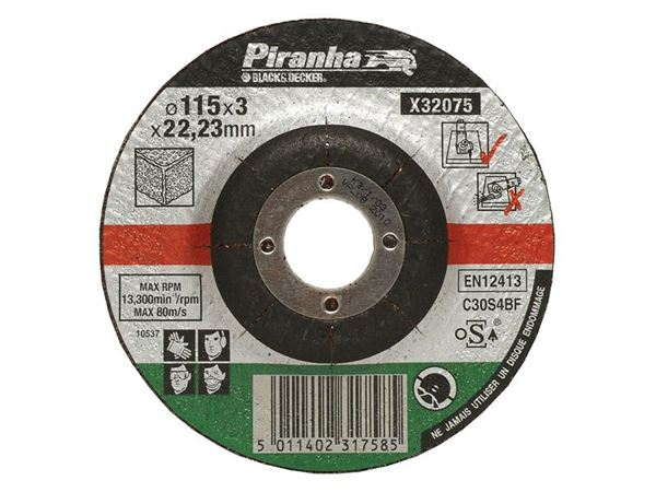 Black & Decker X32075 Proline Stone Cut Off Disc 115 x 3 x 22.23mm