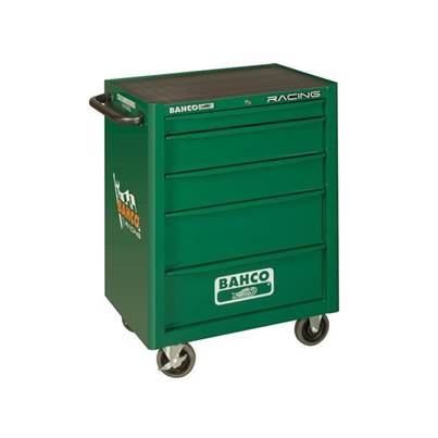 Bahco Racing Green 5 Drawer Tool Trolley With Inlays & Tools