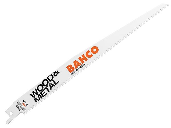Bahco Wood & Metal Bi-Metal Reciprocating Blade 228mm 6 TPI (Pack 5)