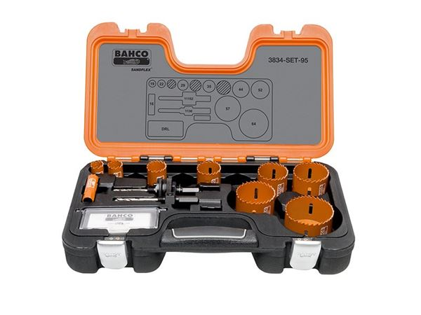 Bahco Professional Holesaw Set 3834-95 Sizes: 16-64mm