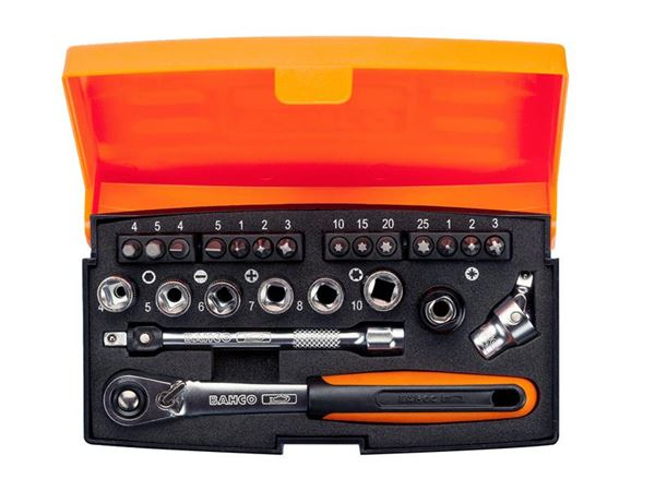 Bahco SL24 Socket Set of 24 Metric 1/4in Drive