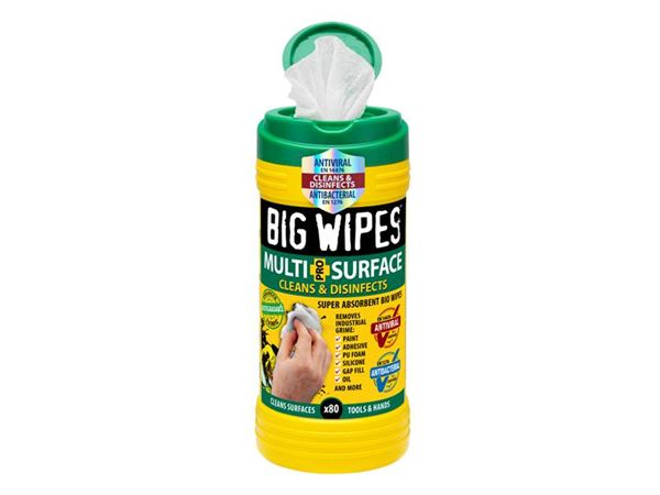 Big Wipes 4x4 Multi-Surface Cleaning Wipes Tub of 80