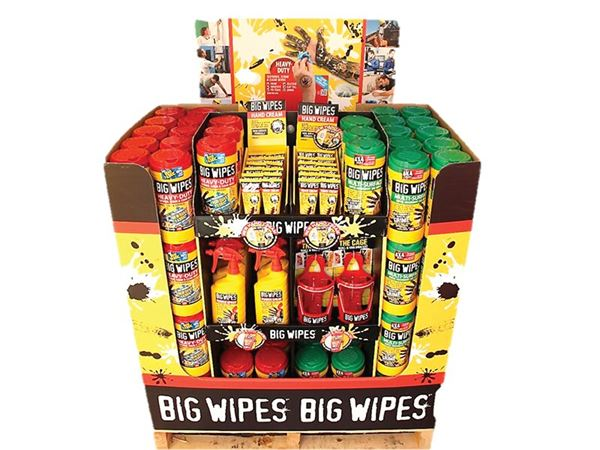 Big Wipes Mixed Merchandiser