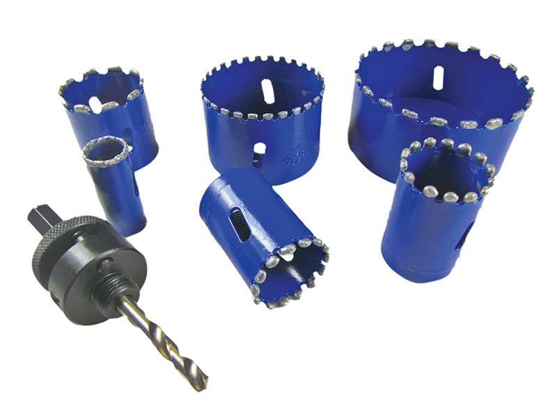 Kitchen & Bathroom Installer Kit Diamond Holesaw Set 6 Piece
