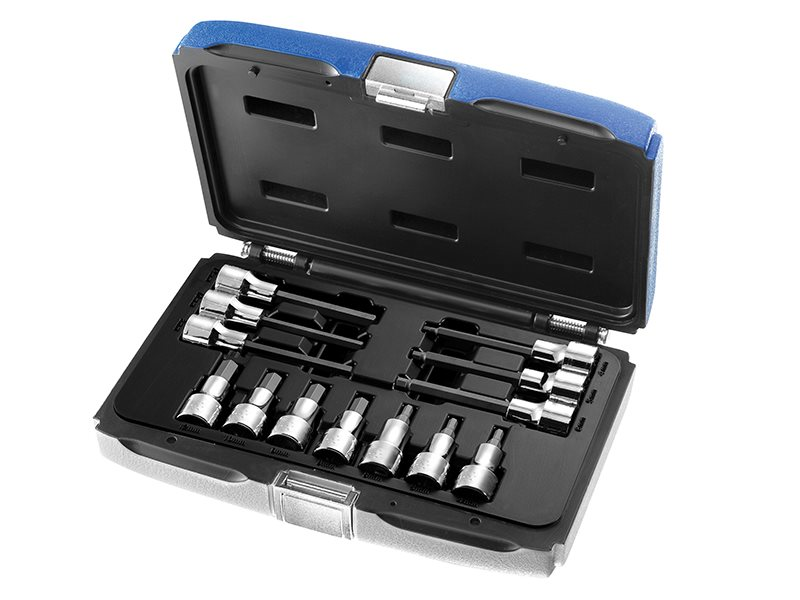 Hex Bit Socket Set of 13 1/2in Drive