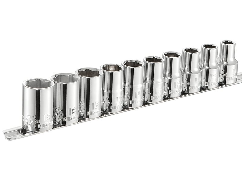 Socket Set of 10 Metric 1/2in Drive