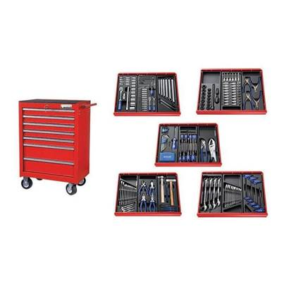 Expert E220328B Roller Cabinet Toolkit 285 Piece Red