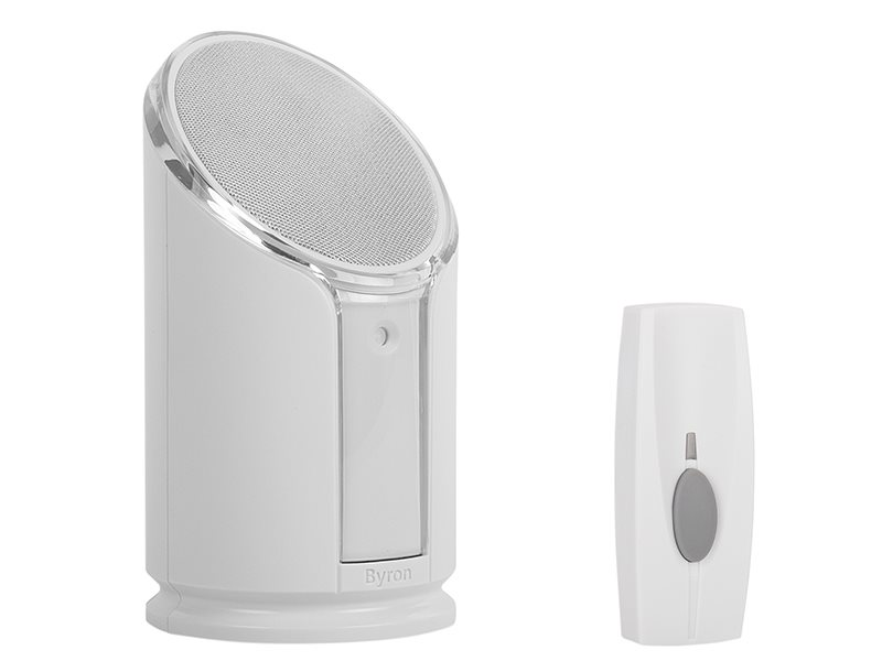 BY301 Wireless Doorbell with Portable Extra Loud & Flashing Chime 100m