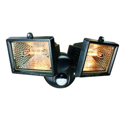 Byron Twin Halogen Floodlights with PIR