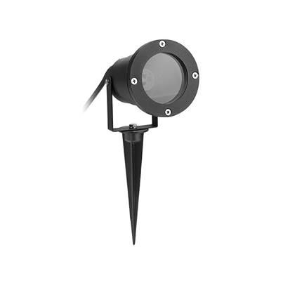 Byron Black Outdoor Spotlight - No Bulb