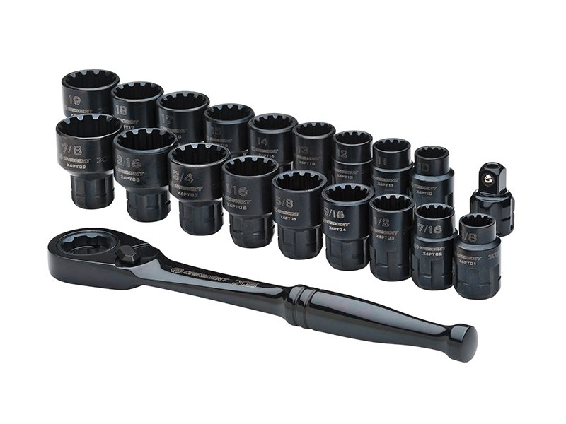 X6™ Pass-Thru® Ratchet & Socket Set 20 Piece