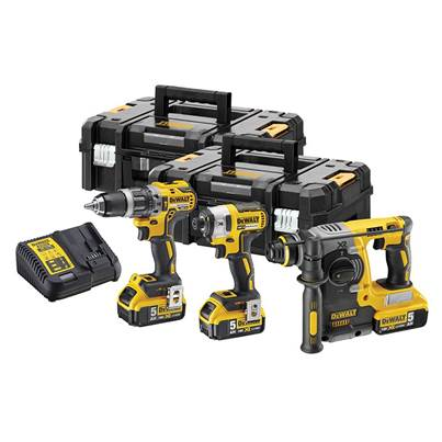 DEWALT DCK368P3T XR Brushless 3 Piece Kit 18V 3 x 18V 5.0Ah Li-ion