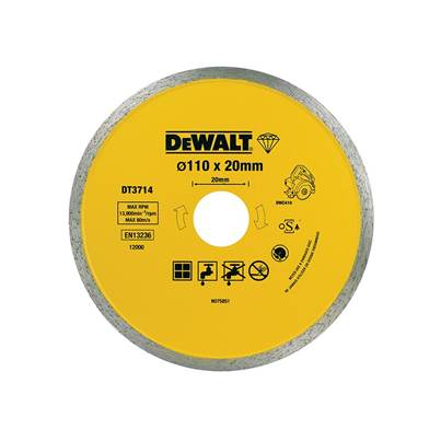 DEWALT Diamond Tile Blade 110 x 20mm