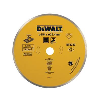 DEWALT Ceramic Diamond Tile Blade 254 x 25.4mm