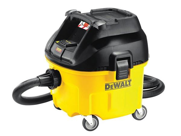 DEWALT DWV901 Wet & Dry Dust Extractor 30 Litre 1400 Watt