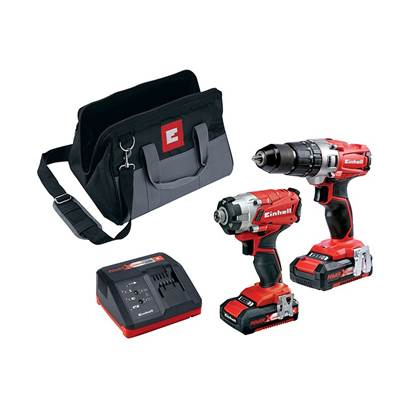 Power X-Change Combi & Impact Driver Twin Pack 18V 2 x 2.0Ah Li-ion