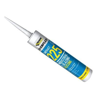 Everbuild 225 Industrial & Glazing Silicone Sealant