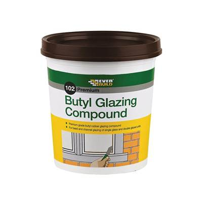 Everbuild Butyl Glazing Compound Brown 102 2kg