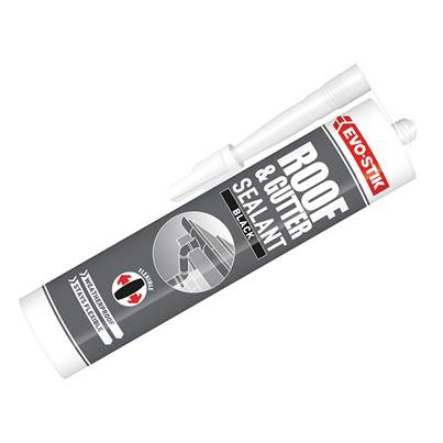 Evo-Stik Waterproof Roof & Gutter Sealant - Black 112919