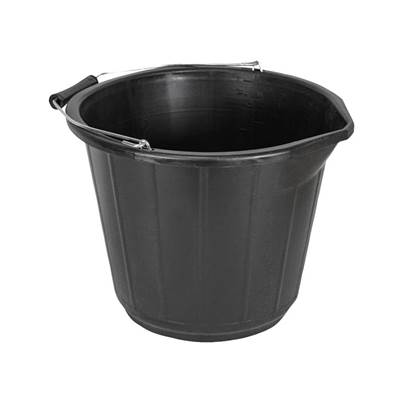 Faithfull 3 Gallon 14 Litre Bucket - Black