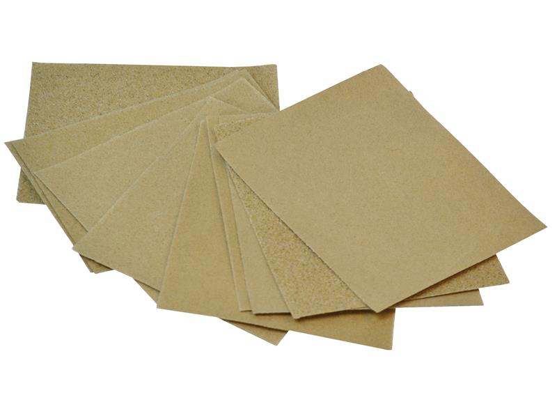 Cork Block Glasspaper Sanding Sheets Assorted (Pack 10)