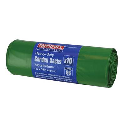 Faithfull Heavy-Duty Strong Garden Sacks (10)