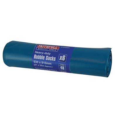 Faithfull Blue Heavy-Duty Rubble Sacks