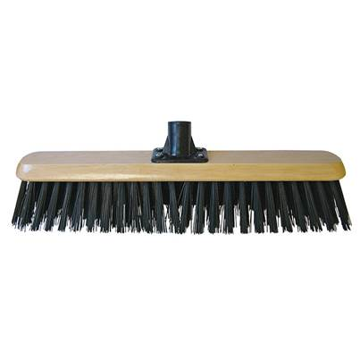 Faithfull Platform Broom Head Black PVC 45cm (18in) Threaded Socket