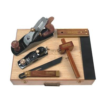 Faithfull Carpenters Tool Kit 5 Piece in Wooden Box