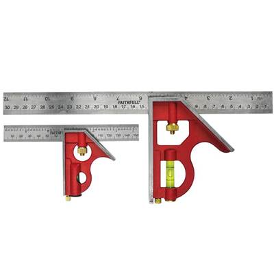 Faithfull Combination Square Twin Pack 150mm & 300mm
