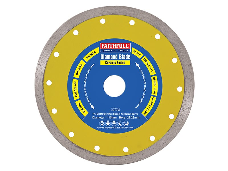 Diamond Tile Blade Continuous Rim