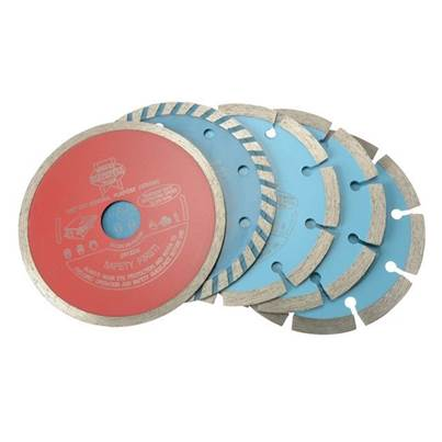 Faithfull Diamond Blade Assorted Set of 5 115 x 22.2mm