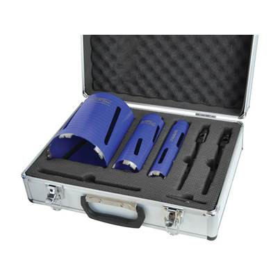 Faithfull Diamond Core Drill Kit & Case Set of 7