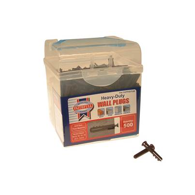Faithfull Heavy-Duty Wall Plug Brown Tub 500