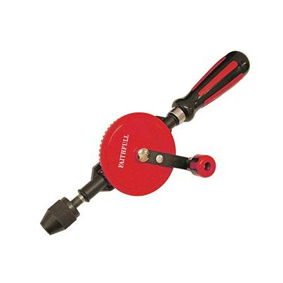 Faithfull Hand Drill Double Pinion 8mm Capacity