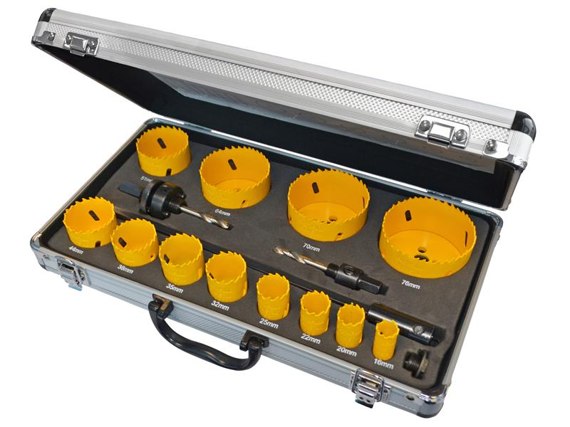 Universal Varipitch Holesaw Kit 16 Piece 16-76mm
