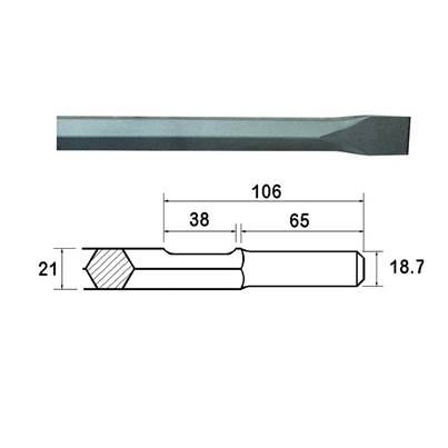 Faithfull Kango Shank Chisel 380mm (914118)