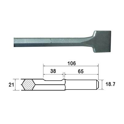 Faithfull Kango Shank Straight Scaling Chisel 75 x 300mm