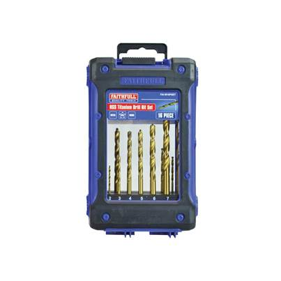 Faithfull Titanium Drill Bit Set 16 Piece 1-8mm