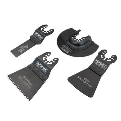 Faithfull Multi-Function Tool Flooring Blade Set 4 Piece